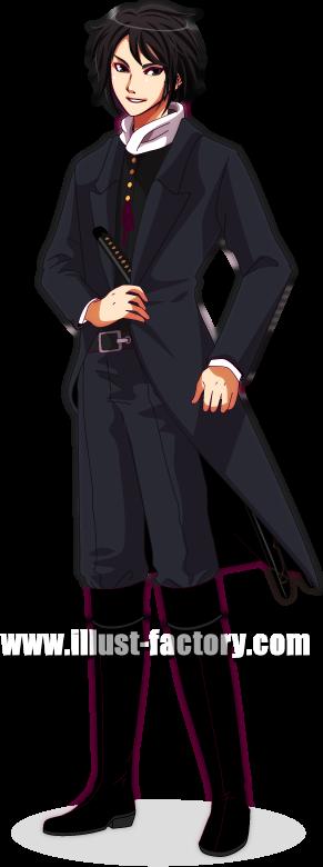 L02-02 ゲームキャラクターデザイン 土方歳三風