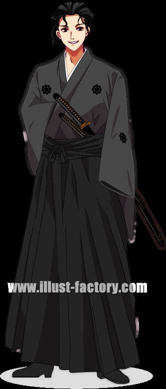 L02-04 ゲームキャラクターデザイン 坂本龍馬風