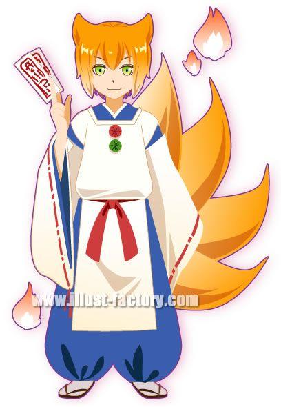 L10-02 妖怪ゲームキャラクター 狐