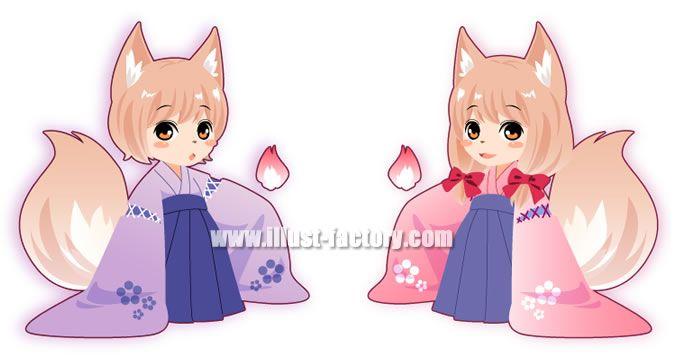 L10-03 SDキャラクター 狐
