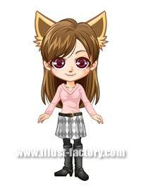 L14-01 ゲーム用アバター 女性 猫耳