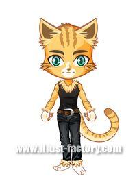 L14-08 ゲーム用アバター 男性 猫