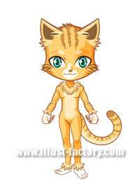 L14-09 ゲーム用アバター 猫