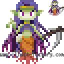 L30-02 レトロゲーム風ドットのイラスト 魔女