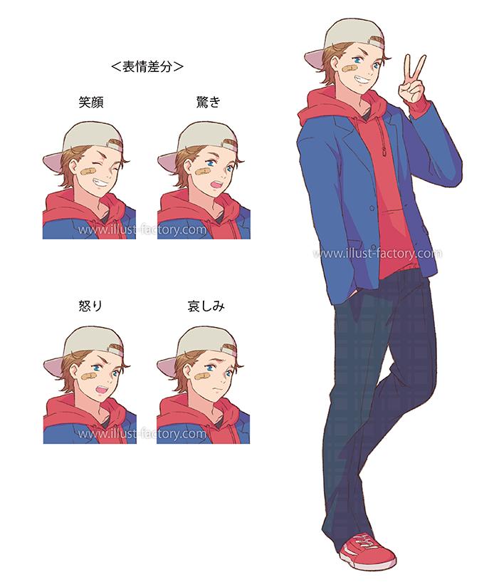 L33-02 アニメタッチ人物のイラスト制作