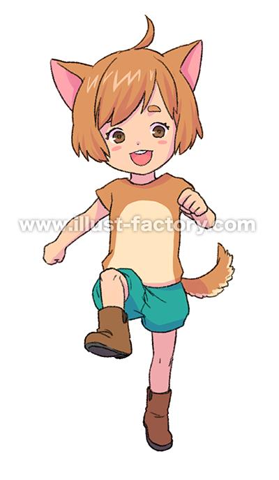 L47-03 動物擬人化のイラスト制作 柴犬
