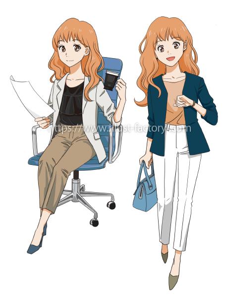 L54-01 オフィスで働く女性