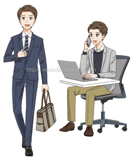 L54-02 オフィスで働く男性