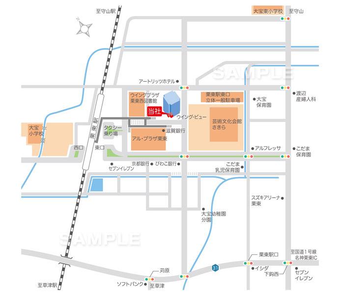 M10-2 アクセスマップ作成 広域地図(広域図・広域マップ)