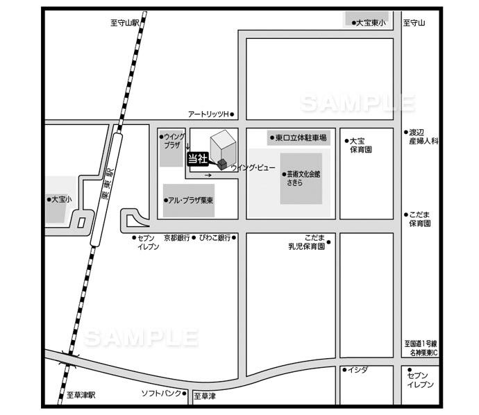 M10-3 アクセスマップ作成 詳細地図(詳細図・詳細マップ)