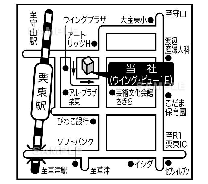 M10-4 アクセスマップ作成 詳細地図(詳細図・詳細マップ)