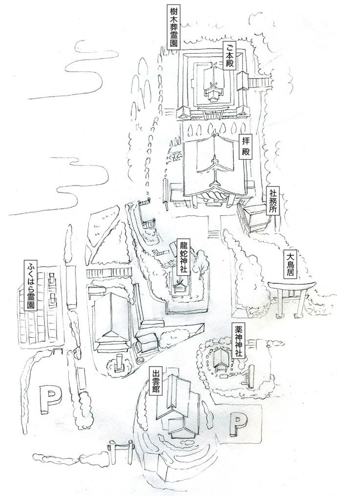 M17-2 境内マップ・鳥瞰図制作 ラフデザイン