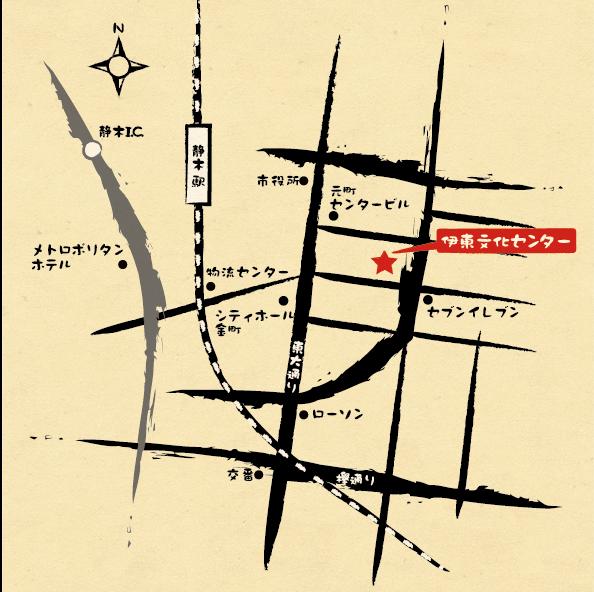 M35-2 手描き風イラストマップ制作