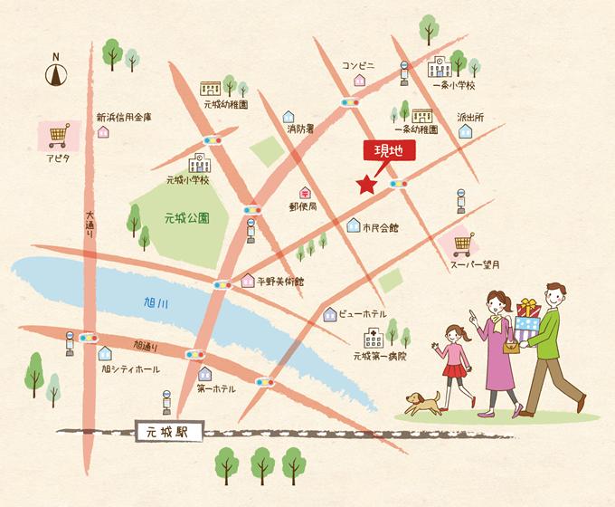 M37 家族向けの可愛いイラストマップ制作