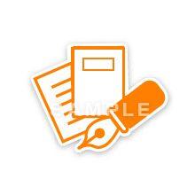 PG02-06 線画タッチのピクトグラム制作例 ペンと書類