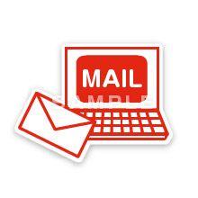 PG02-07 線画タッチのピクトグラム制作例 Eメール