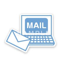 PG02-09 線画タッチのピクトグラム制作例 Eメール