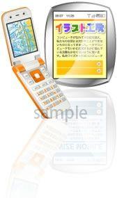 S06-08 携帯電話コンテンツイメージイラスト製作例