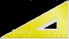 S15-04 三角定規のイラスト
