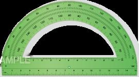 S15-05 分度器のイラスト