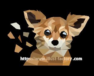 S35-1 ポリゴンスタイルのイラスト制作~犬~