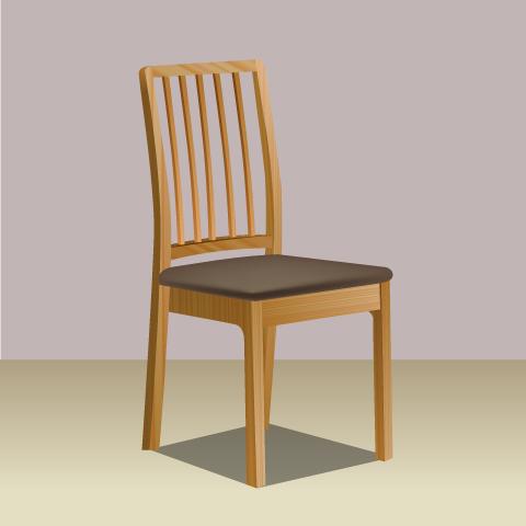 S36-2 素材別椅子のリアルイラスト