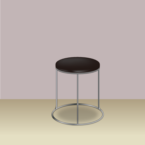 S36-3 素材別椅子のリアルイラスト