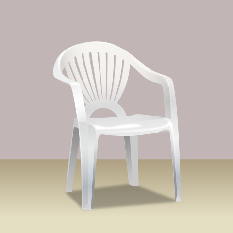 S36-4 素材別椅子のリアルイラスト
