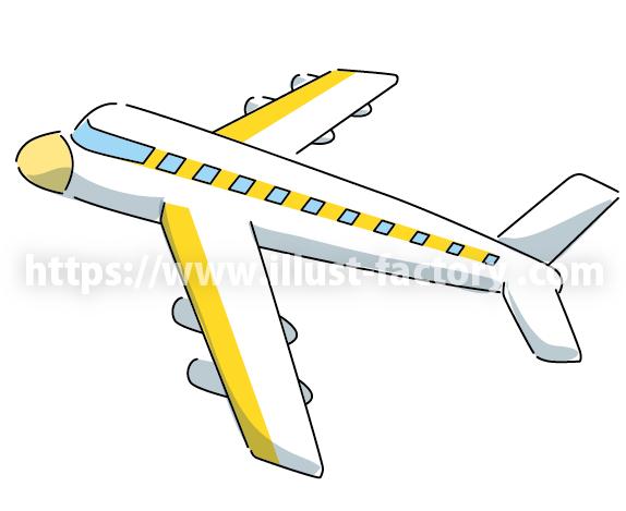 A261 シンプルでかわいい 飛行機のイラスト