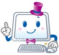 A52-08 パソコンのキャラクターイラスト