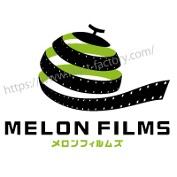 メロンとフィルムモチーフの会社ロゴマーク R26
