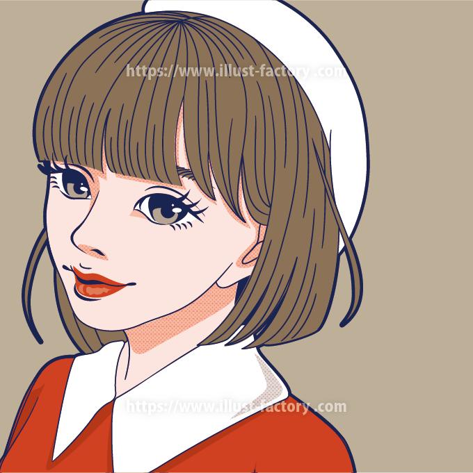 ポップなオシャレ女性イラスト B93-2