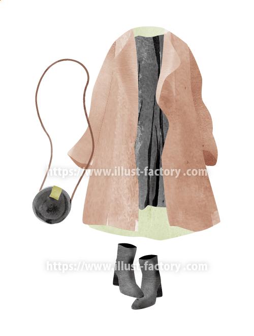 ファッションアイテムイラスト 手描き風タッチ H145-2