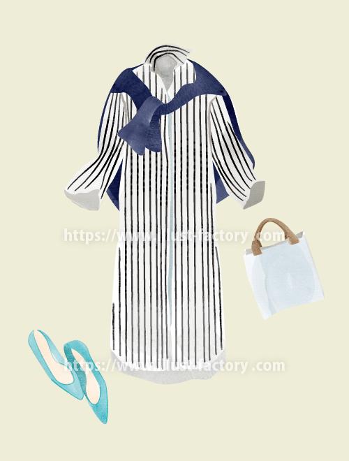 ファッションアイテムイラスト 手描き風タッチ H145-3