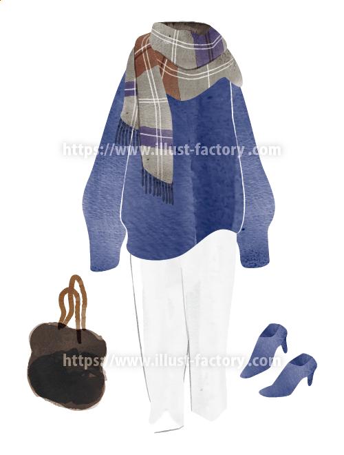 ファッションアイテムイラスト 手描き風タッチ H145-4