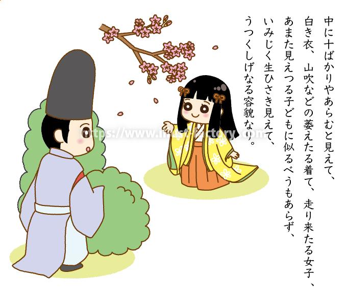 日本古典文学のイラスト 国語の教科書教材にオススメ A308-3