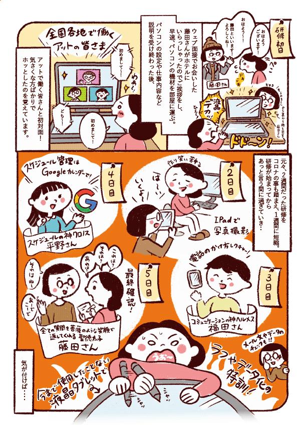 研修風家のマンガ 手書き風のイラストタッチ J49-2