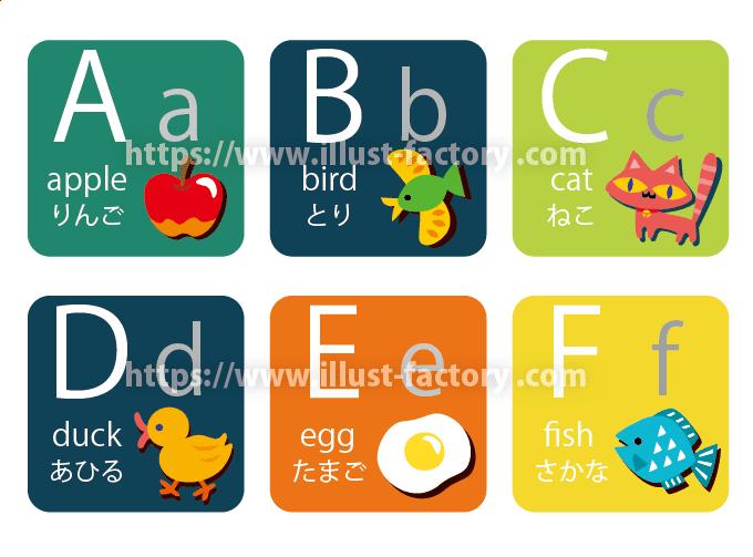 アルファベット表のイラスト 明るいデフォルメタッチ H157