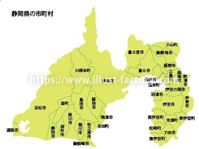 静岡県イラストマップ 教科書子供向けタッチ M48-2
