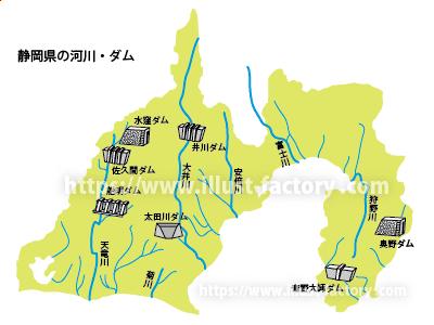 静岡県イラストマップ 教科書子供向けタッチ M48-4