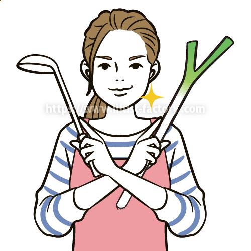 コミカルな主婦の日常イラスト B95-1