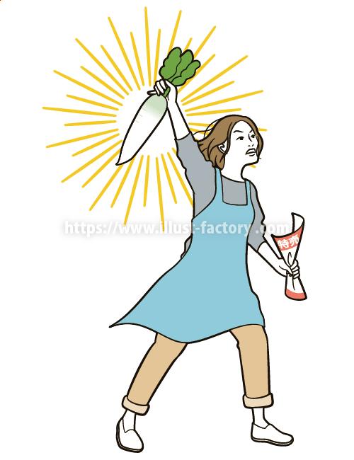 コミカルな主婦の日常イラスト B95-4