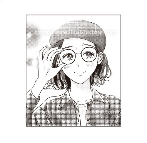年代別の少女漫画のタッチ 似顔絵制作 L71-1