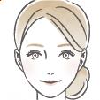 手描き風タッチ 美容部員の女性スキンケアイラスト B96