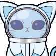 宇宙人と猫を合わせたようなキャラクター C98