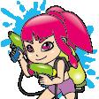 サバゲー夏キャラクターとツール用のイラスト C99