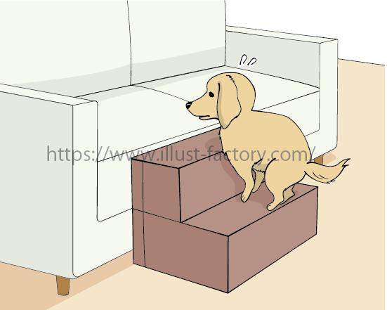 「ドッグステップ」商品の販売ページ用のイラスト制作 A321-1