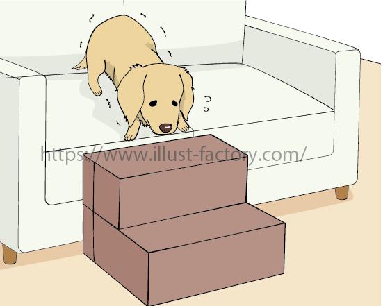 「ドッグステップ」商品の販売ページ用のイラスト制作 A321-2