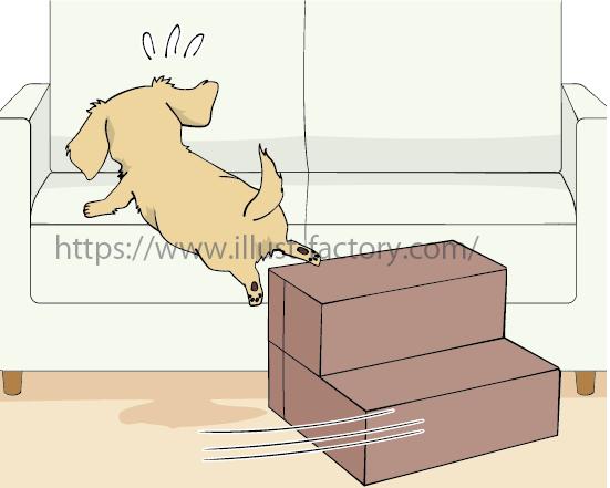 「ドッグステップ」商品の販売ページ用のイラスト制作 A321-3