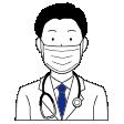 男性医師・女性医師・男性看護師・女性看護師の表情イラスト G516